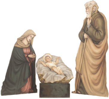 Nativity Scene - Boardwalk Originals Christmas Decoration & Display