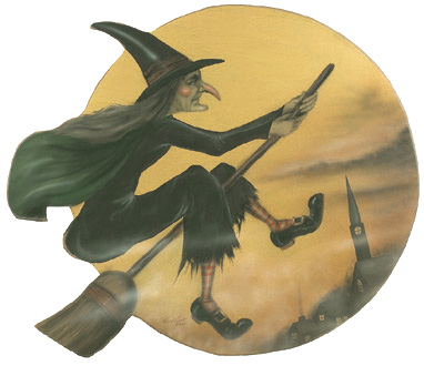 Wicked Witch Disk - Boardwalk Originals Halloween Decoration & Display
