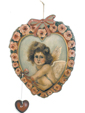 Cherub In Heat Of Roses - Boardwalk Originals Romantic Valentine's Day Decoration & Display