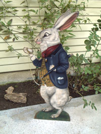 Rabbit With Watch - Boardwalk Originals Rabbit Decoration & Display