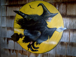 Witch In Moon - Boardwalk Originals Halloween Decoration & Display